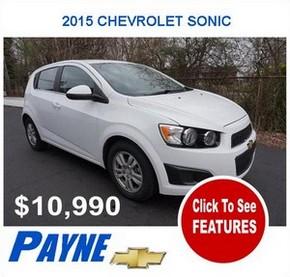 Payne 2015F CHEVROLET SONIC 2942753583