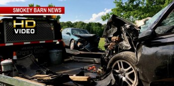 Pregnant Woman Among 3 Injured In Head-On Crash In Front Of Fire Station