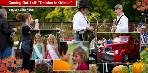 Annual October In Orlinda Festival Coming October 14th