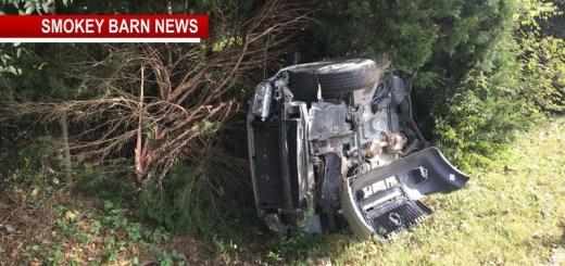 Driver OK After Hwy 161 Rollover Crash