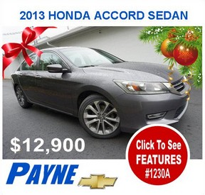 Payne 2013 Honda Accord Sedan 1230A