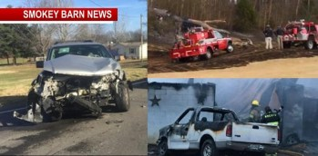 Today's Top Stories (Three Stories) 2 Fires, 1 Crash