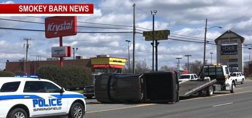 Rollover On Memorial Blvd In Springfield Under Investigation