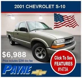 Payne 2001 Chevrolet s 10 1473A 288