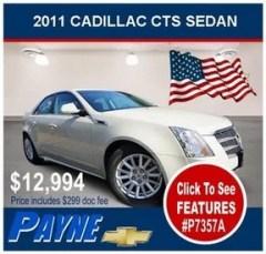 Payne 2011 cadillac cts sedan p7357a flag 300