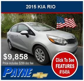 Payne 2015 Kia Rio 1649A 288