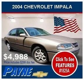Payne 2004 Chevrolet Impala 1825A 288