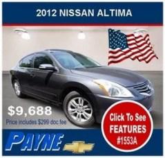 Payne 2012 Nissan Altima 1553A 288