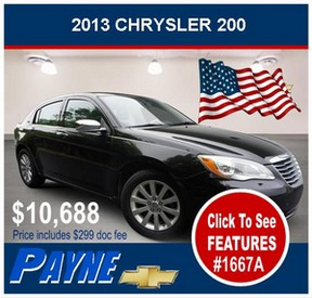 Payne 2013 Chrysler 200 1667A 288