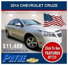 Payne 2014 Chev Cruze P7379 288