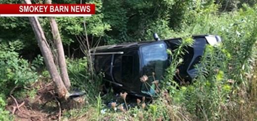 Rollover Crash Near Adams Close Call For Driver