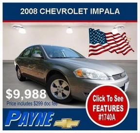 Payne 2008 CHEVROLET IMPALA 1740A 288