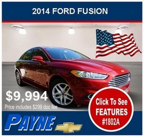 Payne 2014 Ford Fusion 1802A 288