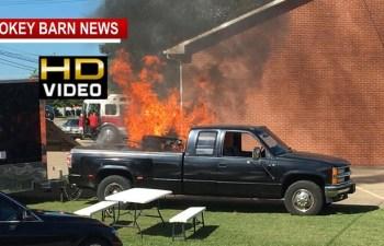 Food Truck Ignites, Operator (RC Deputy SRO) Burned In White House