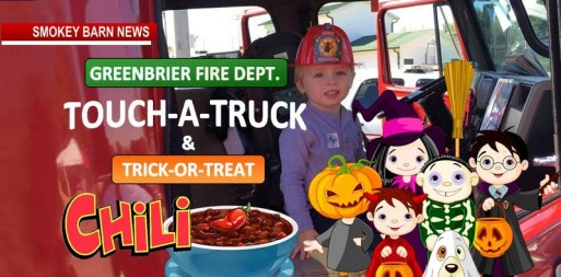 """Greenbrier Fire Dept. Invites Community To """"Touch A Truck, Trick Or Treat & Chili"""