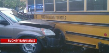 Everyone OK After Robertson School Bus And Car Collide