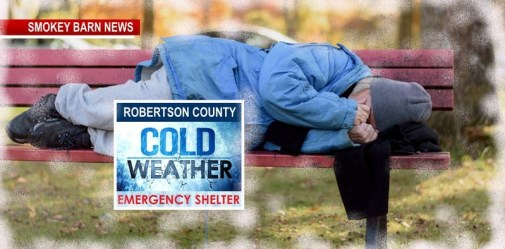 Cold Weather Shelter Opens In Robertson County