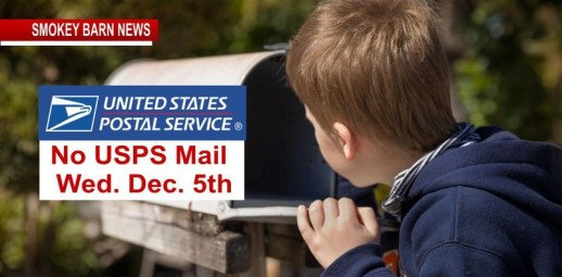 No USPS Mail on Wed. Dec. 5th For National Day Of Mourning