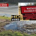 Sidewalks Covered In Sewage Near Ridgetop School