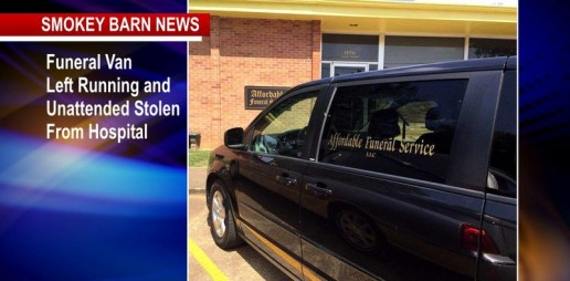 Running Hearse Stolen From Hospital Triggers Search