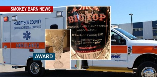 Robertson EMS Awarded TN Ambulance Service Association Bob Thomas ALS service of the year award