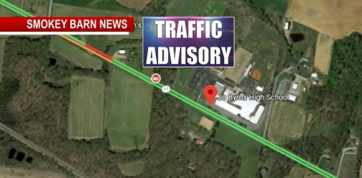 ADAMS TRAFFIC ALERT (Head-On Crash Closes Hwy 41 Near Jo Byrns High)