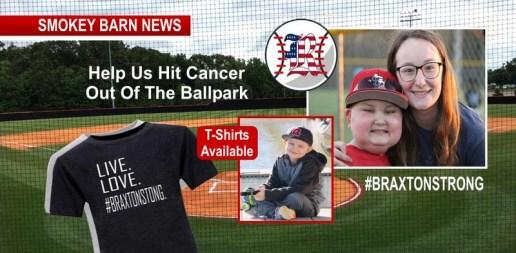 Baseball Fundraiser for Braxton Wed., Get Your BraxtonStrong T-Shirt