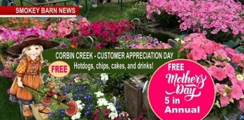 Fun, Food & Flowers This Saturday At Corbin Creek Greenhouse
