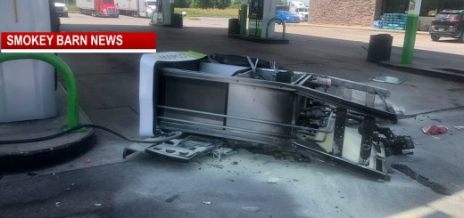Gas Pump Ignites After Parking Accident In Coopertown
