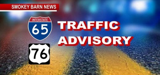 I-65 S. Semi Rollover Crash At Hwy 76 Causing Delays