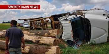 Logging Truck Overturns Near Cross Plains Injures One