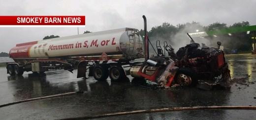 Disaster Averted After Tanker Ignites On Hwy 25