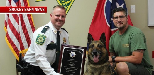 Kane The K-9 Robertson Deputy Sheriff Dog Retires