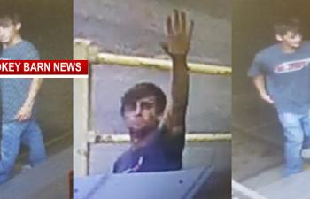 Springfield Burglary Suspect Waves At Camera