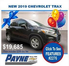 Payne 2019 Chev Trax 2276 288
