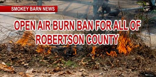 Robertson County Goes Under Burn Ban