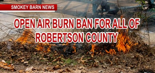 Robertson County Goes Under Burn Ban