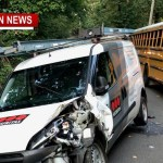 Robertson School Bus/Van Collide (Students OK)