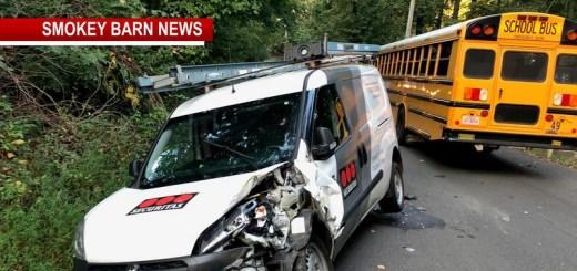 Robertson School Bus/Van Collide (Students OK)