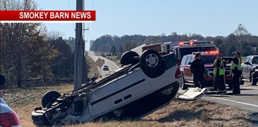 Rollover Crash Slows 49 Traffic Near Springfield