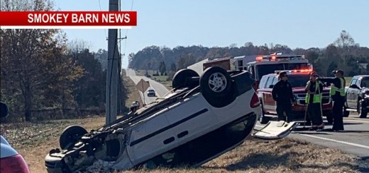 Rollover Crash Slows 49 Traffic Near Coopertown