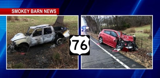 Two Hospitalized In Violent Hwy 76 Fiery Crash Near White House