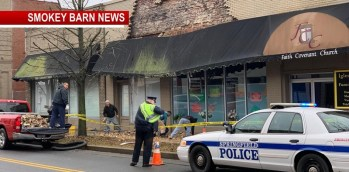 Partial Building Collapse Of Church On Main St Slows Traffic In Springfield