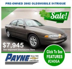 Payne 2002 Oldsmobile Intrigue 2406A