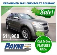 Payne 2012 chev equinox 2195a