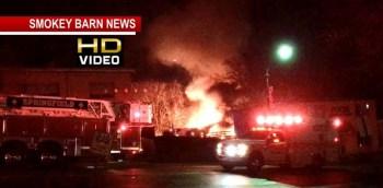 Fire Engulfs Downtown