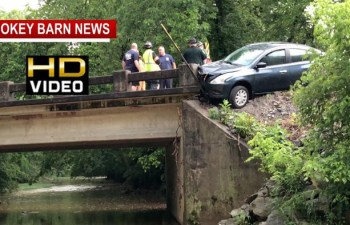 Driver Misses Creek By Inches On Lahr Rd In Springfield