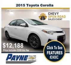 Payne 2015 toyota corolla 2408c