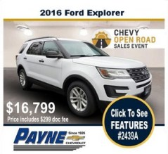 Payne 2016 ford explorer 2439a
