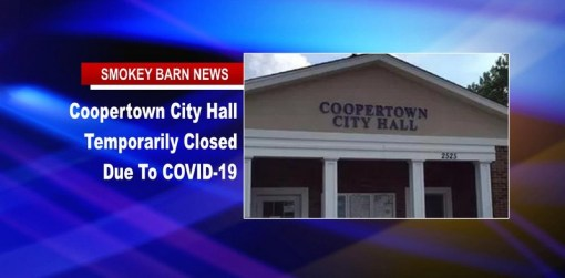 Coopertown City Hall Closed Due To Covid-19